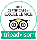2018 TripAdvisor Certificate of Excellence Award Winner